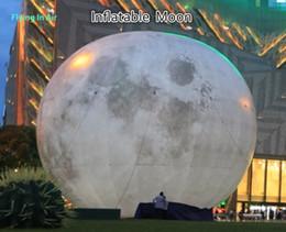 Globo inflable gigante decorativo al aire libre de la luna 10m para la decoración del anuncio desde globos inflables gigantes fabricantes