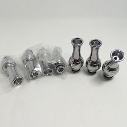 360 degree rotating stainless Metal Drip Tips MouthPiece vape drip tips 510 drip tips for DCT EE2 vivi nova aerotank protank asipire atomize
