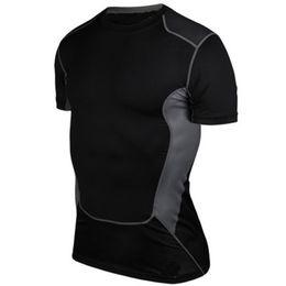 Capas base en venta-Verano Hombres de manga corta de manga corta de secado rápido transpirable Running Cycling Jersey Base de entrenamiento de la aptitud de la aptitud de la camisa de compresión