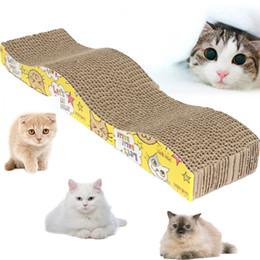 Tampons chat à gratter à vendre-Gros-Cat Kitten Scratch Pad Carton Ondulé Scratcher Bed Mat Claws soins w / Cat Catnip Toy cadeaux
