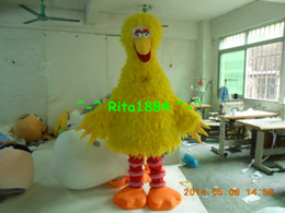 Big Yellow Bird Mascot Costume Cartoon Character Costume Party Free Shipping