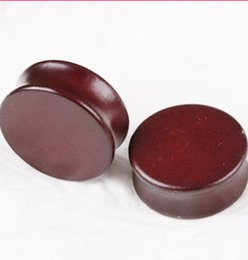 Free Shipping High Quality Brown wood ear plug tunnel piercing Body Jewelry size 6-18mm 70PCS