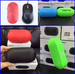 Wholesale Newest Fashion Mini Pill Bluetooth Speaker Wireless Hand free Stereo Portable Mini Bluetooth Subwoofer colors DHL