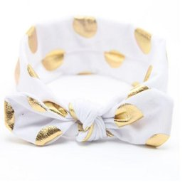 children hair accessories ,White Gold Knott Cotton Baby girls headband,Turban baby head wrap for girls