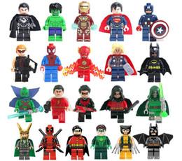 2017 Newest 21pcs lot wholesale Marvel Super Hero Toys Building Blocks The Avengers DIY Bricks For Children as Educational Collection Toys