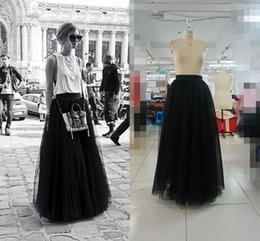 Real Image Cheap Bust Skirts Princess Layered Voile Tulle Skirt Bouffant Puffy Skirt Long Skirts 2015 Spring And Summer Formal Dresses