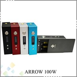 Wholesale Best Arrow Mods W Variable Voltage Wattage Mods W W fit battery fit Atomizer Colorful with LCD Display Arrow W DHL Free