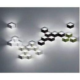 Wholesale flod magic led Wall Light aluminum Stereo Rhombus Ice Cube D Wall Lamp Geometry Square Grid Box indoor lighting