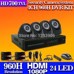 free shipping,4 Channel DVR KIT Surveillance CCTV Camera Kit Home Security 960H DVR Recorder System video surveillance system