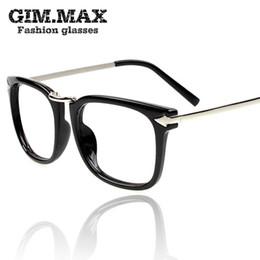 Wholesale-Glasses frame non-mainstream plain mirror Women vintage frame black male big frame eyeglasses frame black amber free shipping