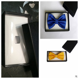 Wholesale Top Sale Black Gift Boxes For Necktie Package For Bow Ties Presentation Box For Bow Ties Gift Packing Cheap