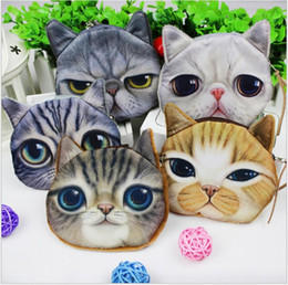 Wholesale 2016 New Hot Sale Children Cute Cat Face Zipper Case Coin Kids Purse Wallet Makeup Bag Pouch Baby Small Wallet Jewelry Coins Purse Colors
