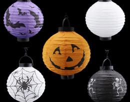 2015 Halloween Props Decorations Jack Paper Pumpkin Lanterns Hand Hanging 4 Colors Halloween Props Party Supplies