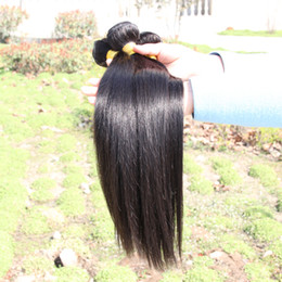 Wholesale 100 Human Hair Weaves A Best Quality Peruvian Brazilian Malaysian Indian Virgin Soft Straight Hair Extensions Remy Hair Bundle By DHL