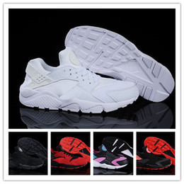 Wholesale 2014 New Air Huarache Men Women Sneaker Black Red White Sneakers Breathable Running Shoe Huaraches size US5