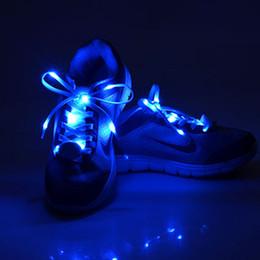 Wholesale Cool Fashion LED Shoelaces cm Shoe Laces Flash Light Up Glow Stick Strap Flat Shoelaces Disco Party for Shoe Accessories
