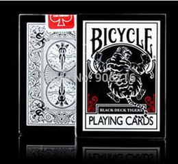 Wholesale-Bicycle Black Tiger Deck Playing Cards Top Grade Poker New Bicycle Playing Card Magic Card