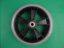 Wholesale 7 quot pvc front wheels wheelchair wheels wheelchair front wheels PVC front wheel folding wheelchairs CE FDA