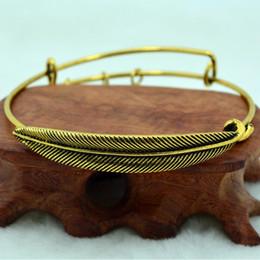 Wholesale New Vintage Alex and Ani Alloy Bangles Women Men Charms Plume Feather Bracelet Gold Silver Expandable Adjustable Antique Bracelets Bangles