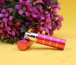 Wholesale line ml aluminum perfume bottle perfume atomizer travel perfume bottle refillable spray bottle