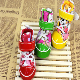 Wholesale The Newest Dog Shoes DIY Mosaic Pattern Warm Winter And Spring Colorful Dog Shoes The Bottom Of The Beef Tendon SET JJ105