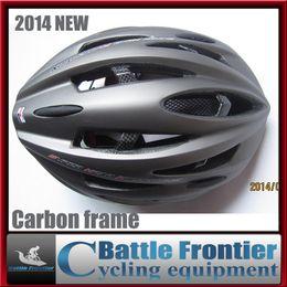 Wholesale-2015NEW adult man woman Carbon Fiber Frame cycling helmet 285g mtb road bike head gear EPS+PE adjustable 57-61cm red black blue