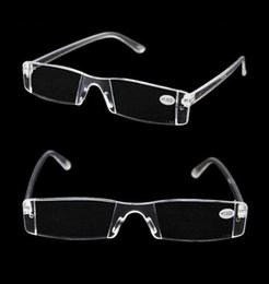 Wholesale 2015 New White Reading Glasses Clear Rimless Eyeglasses Presbyopia Diopter High Quality