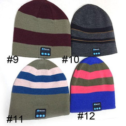 Wholesale Hot Sale Bluetooth Music Hat Soft Warm Beanie Cap with Stereo Headphone Headset Speaker Wireless Microphone V887