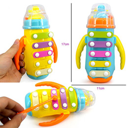 Wholesale Infant Playing Type Children s music enlightenment educational toys Bottle knock piano With rattles early childhood musical instruments
