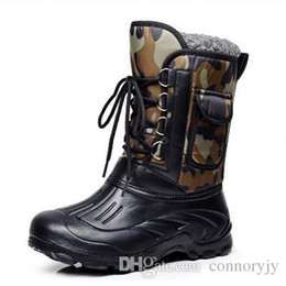 Wholesale ARCTIC TRACKS Brand Autumn Winter Warm men fashion snow boots military fishing skiing waterproof simple casual mid calf shoes