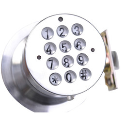 Wholesale DHL High Quality Round Knob Electronic Programmable Keyless Entry Password Digital Door Lock
