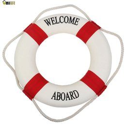 Wholesale Umiwe Navy Accent Nautical Welcome Aboard Decorative Cloth Life Ring Buoy Room Decor