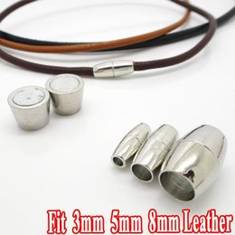 Wholesale New Arrival sets Rhodium Plated Copper Based Strong Magnetic Clasps Jewelry Settings fit for mm Leather Bracelets
