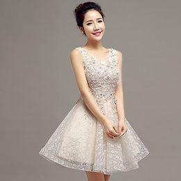 Exquisite A-line Princess Jewel Off-Shoulder Applique Short Mini Cocktail Prom Dresses Corset Beaded pink Sexy Special Occasion Dresses
