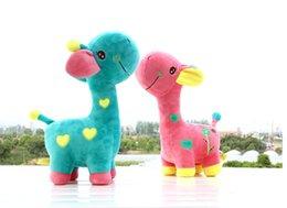 Wholesale Hot Originality Stuffed Animals Cute Giraffe Stuffed Toys Bithday Gifts For Plush Toys Color Random Height CM T693
