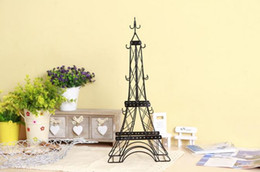 Wholesale Displays Jewelry Tower Display Stand The Eiffel Tower Metal Decorations Best Gift Jewely Holder Shelf AA622