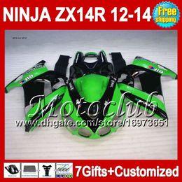 Green black 7gifts For KAWASAKI 12-13 NINJA ZX-14R 12 13 12 13 ZX14 R 25C191 ZX 14R ZX14R 2012 2013 2012 2013 ZX 14 R Fairing green black