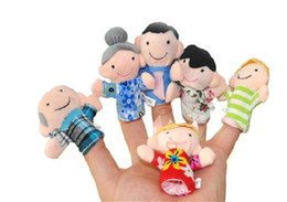 Baby Finger puppets Baby Learning & Education Toys Baby Plush Toys Finger Toys Talking Props Family group