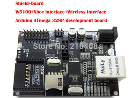 Promotion carte intégrée Gros-W5100 Module Ethernet pour Arduino intégré Development Board Xbee Interface d'extension pour carte SD Extension ATMEGA 2560