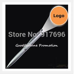 Al por mayor-Nuevos del envío 1000pcs / lot de regalo del logotipo de promoción impresa proyección giro de metal bolígrafo customed desde bolígrafo de giro proveedores