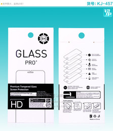 500pcs Wholesale retail Box with insert & handle For iphone 5s samsung sony Mobile phone tempered glass screen protector