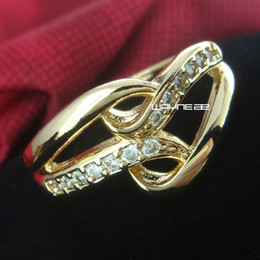 Size 6.5 and 7.5 18K Gold GP Ring Sapphire Engagement Jewelry (r229)