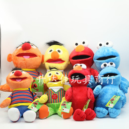 Wholesale EMS New Original Muppets Sesame ELMO series Stree Friends cm Plush doll Stuffed TOY E603