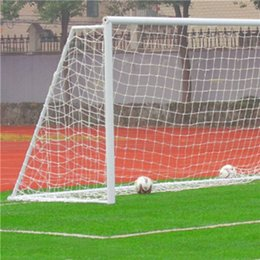 Wholesale White x4ft Full Size Football Soccer Goal Post Net Sports Match Training Junior New Polypropylene Fiber High Impact Flexible Light and Easy