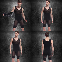 Wholesale Mens Spandex Bodysuits Vest Pants Hot Slimming Corset Waist And Butt Shapers Male Training Belts Body Girdles Underwear d2526