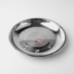 Wholesale 21cm good Quality Stainless steel Dish plate meal dishes plates kitchen household hotel Tableware Dinnerware