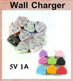 Wholesale 5V A USB AC Power Adapter for Android Tablet PC Pins UK Wall Charger UK Plug USB Charger Price dhl CAB052