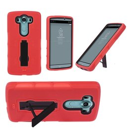 Newest Popular Cell Phone Case Shockproof Heavy Duty Silicone+Plastic With Kickstand For LG V10 2 in 1 fashion case