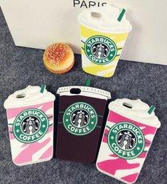 Wholesale Silicone Creative cases for samsung galaxy s3 s5 s6 note3 note4 for iphone4s i5s i6 i6s Starbucks coffee Starbucks ice cream with sucker