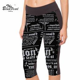 Wholesale Summer styles Sexy women s point pants English alphabet News digital print women high waist Side pocket phone pants FG1510